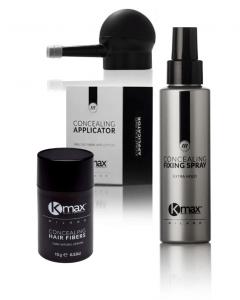 KMax Hair Professional Kitπου καλύπτει τα αραιά μαλλιά σε κάθε στάδιο τριχόπτωσης - hair fibers