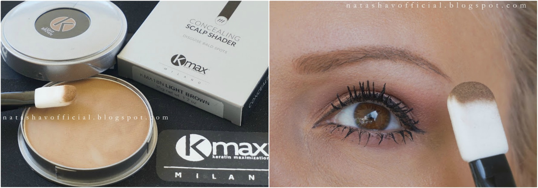 KMax Milano Concealing Scalp Shader Review + Swatches